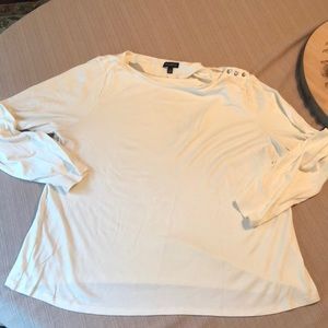 Talbots off white top. Jewel accents